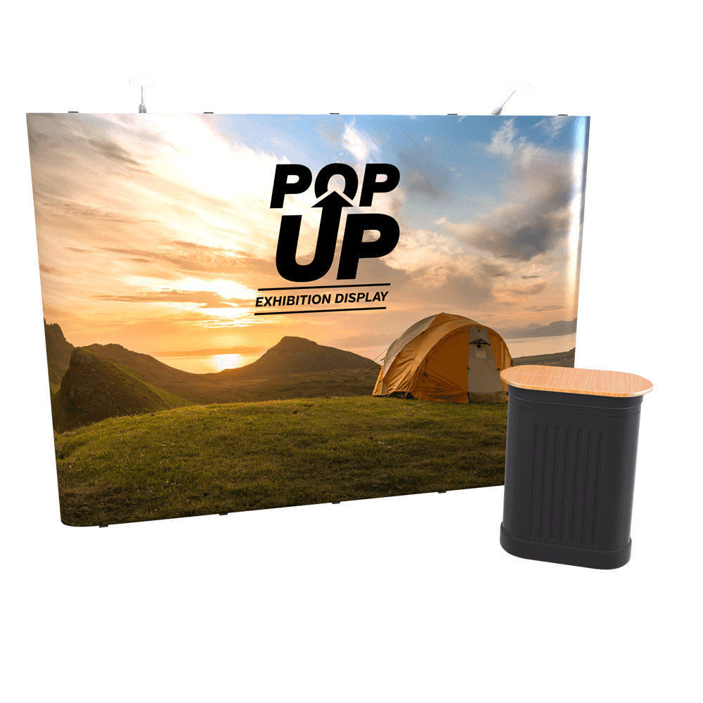 4x3 Straight Pop Up Stand